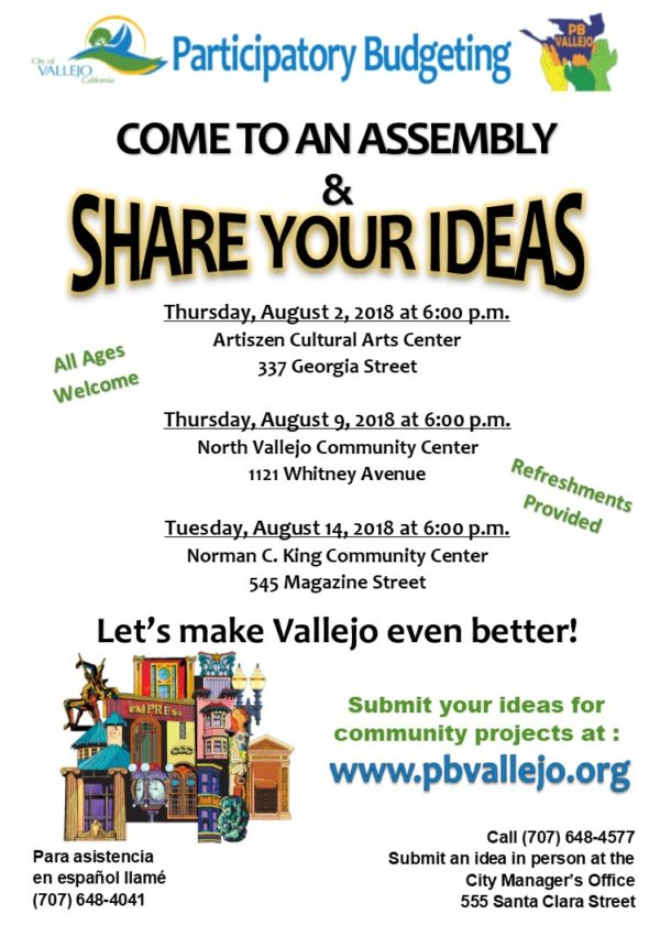 City of Vallejo Hosts PB Assemblies Aug 2